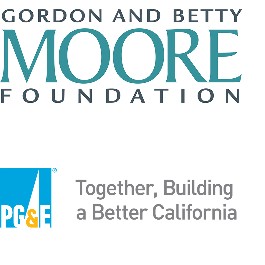 Logos for Gordon and Betty Moore Foundation and PG&E