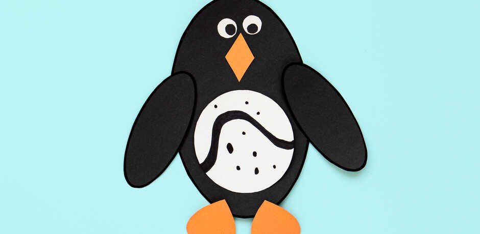 Cute felt penguin craft