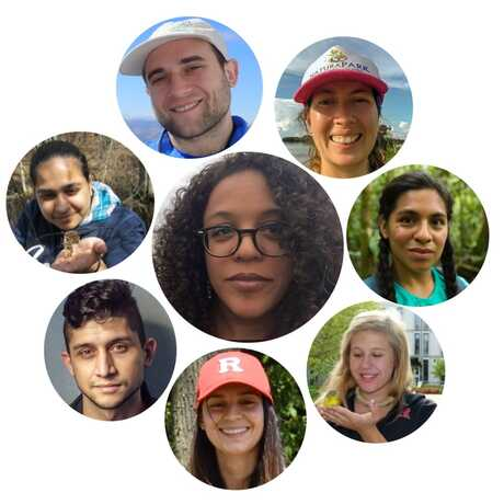 8 circles containing the faces of the founders of Entomologists of Color