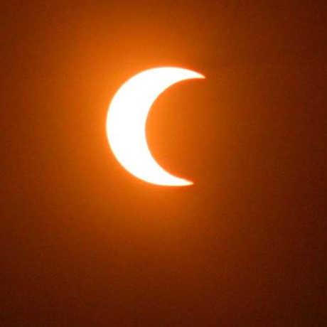 Photo of past partial solar eclipse