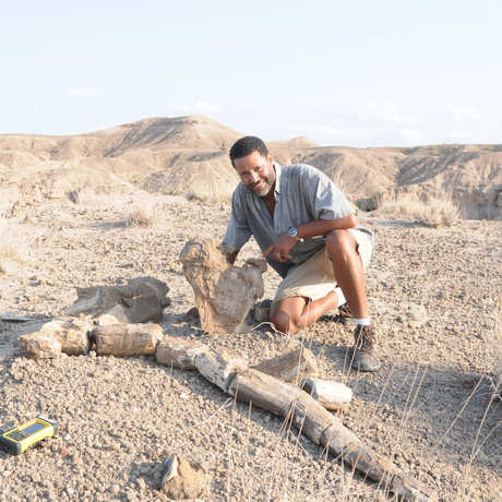 Dr. Zeray Alemeseged in the field in Ethiopia