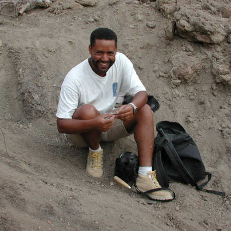 Dr. Zeray Alemseged in the field in Ethiopia