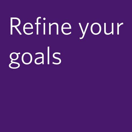 refine your goals
