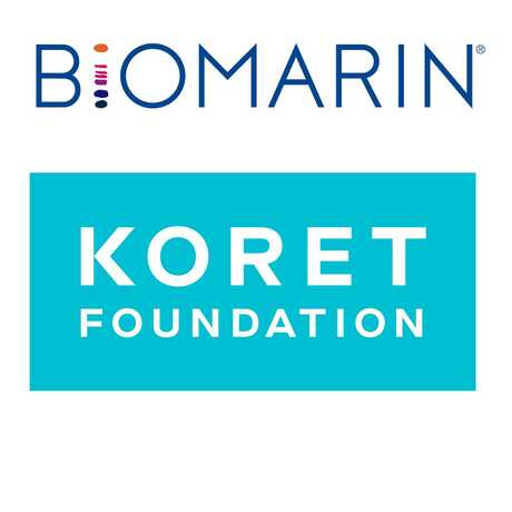 Biomarin and Koret Foundation logos.