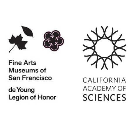de Youn Fine Arts Museums of San Francisco and California Academy of Sciences logos