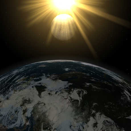 Sun Moon and Earth