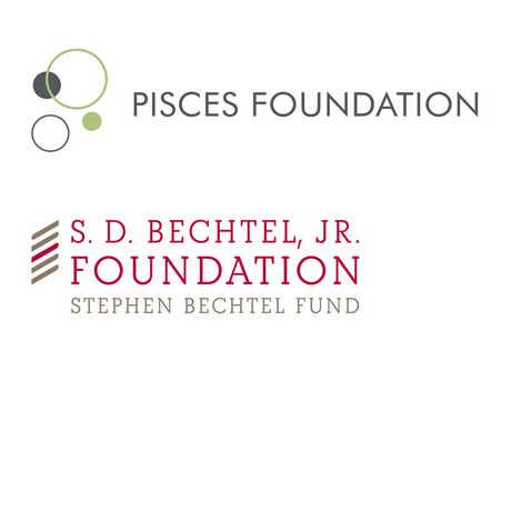 Pisces Foundation and S.D Bechtel, Jr. Foundation logos