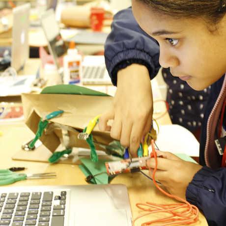 Youth engaging at playshop