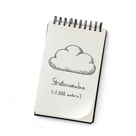 an image of a notebook with a cloud drawing