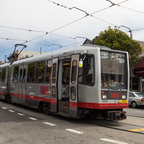 N Judah Muni, which goes to Golden Gate Park.