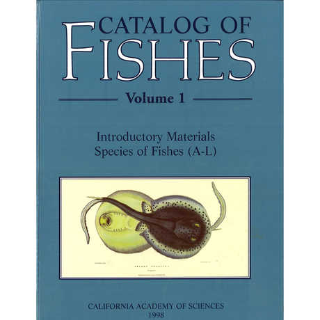 Picture of the Catalog of Fishes book