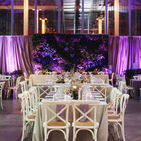 Photo of dinner in the Piazza with living wall: © Andria Lo Photography