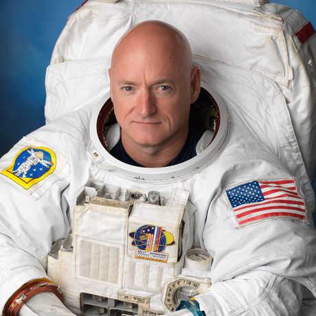 Astronaut Scott Kelly in his spacesuit