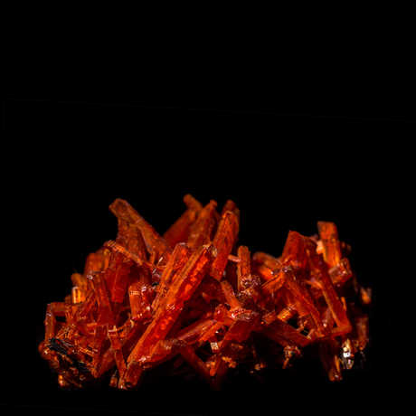 Crocoite geology specimen from Gems and Minerals Unearthed exhibit