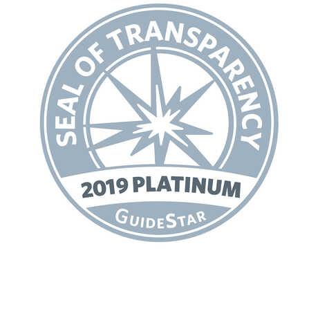 Guidestar's 2019 Platinum Seal of Transparency