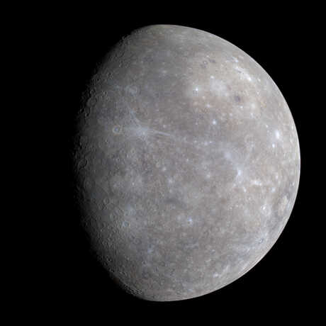 The planet Mercury, image by NASA/JPL.