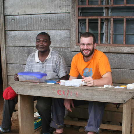 Dave Blackburn and Marcel Kouete in Cameroon