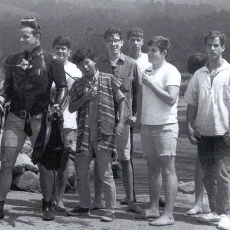 Gary Williams, center, in high school.