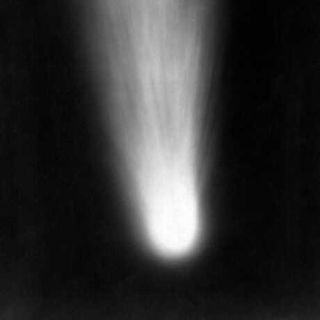 Black and white image of Halley's comet