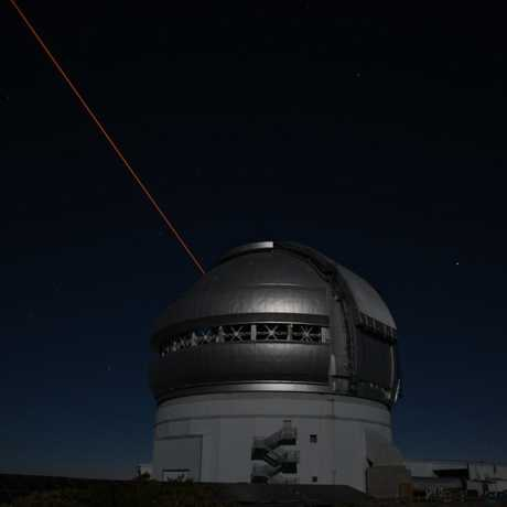 Time lapse photo of Chilean telescope at night