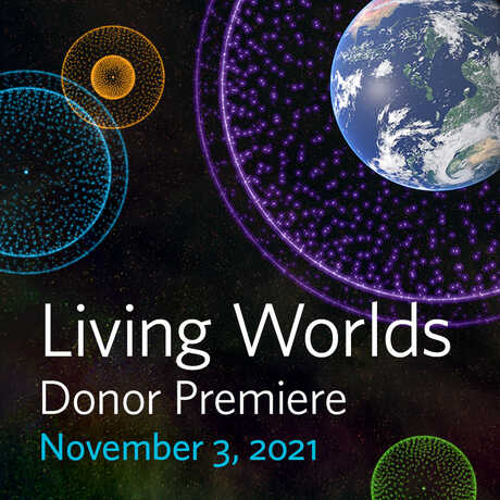 Living Worlds Planetarium show donor premiere