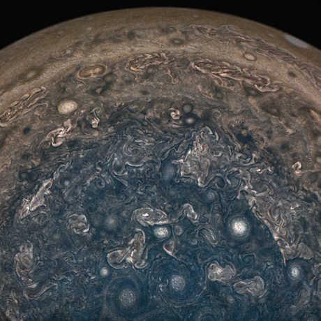 Juno image of Jupiter