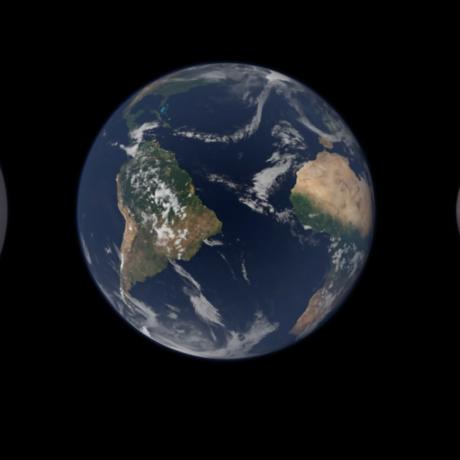 Venus, Earth, Mars