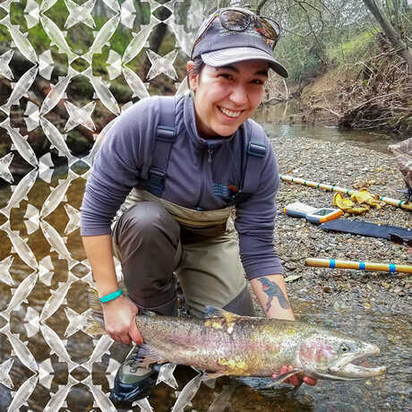Elizabeth Ruiz holding a large fish