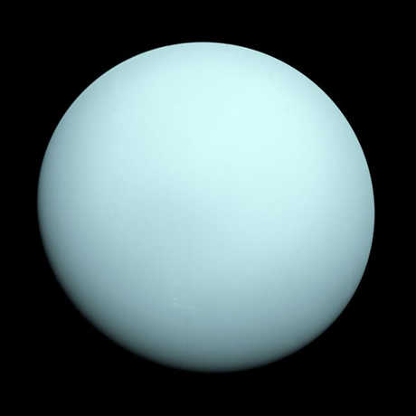 On January 24, 1986, NASA's Voyager 2 flew past the planet Uranus