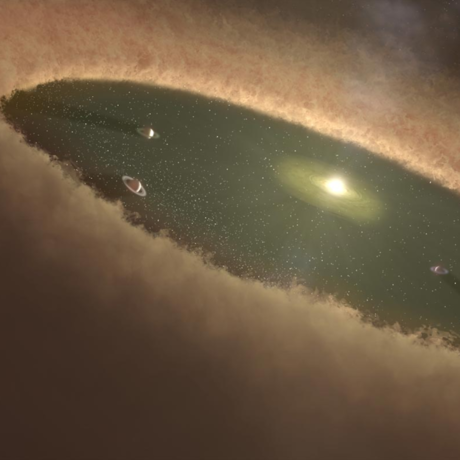 Rendition of planets forming in LkCa 15, NASA/JPL-Caltech