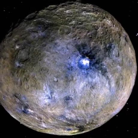 Ceres spot, false color: NASA/JPL-Caltech/UCLA/MPS/DLR/IDA