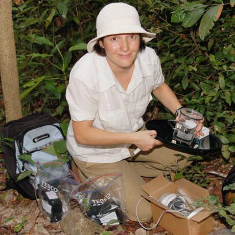 Shannon Bennett in the field
