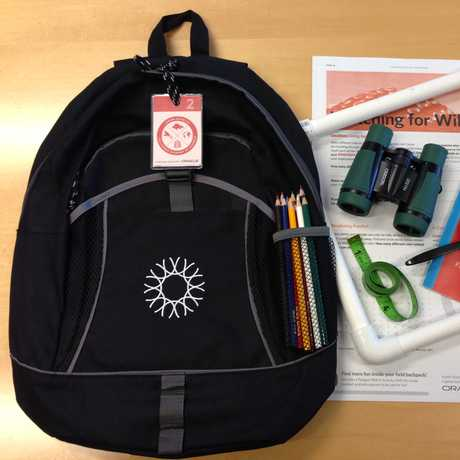 Junior Scientist Adventure backpack and tools