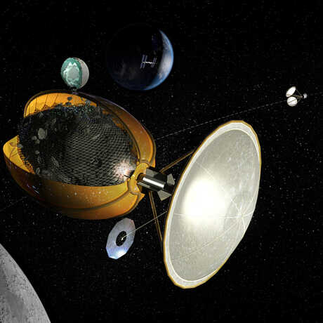 Can water or other resources be collected from asteroids?