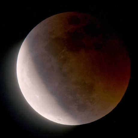 Artist rendering of a lunar eclipse