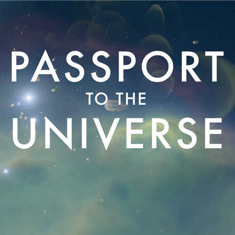 Passport to the Universe logo over a space nebula