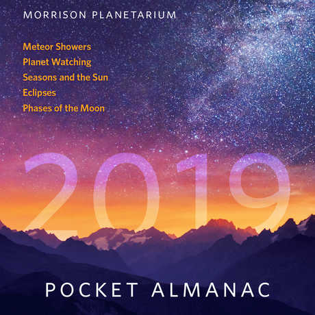 Cover of the 2019 Morrison Planetarium Pocket Almanac