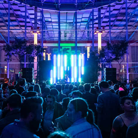 Packed dance floor in the Piazza at Party After Dark