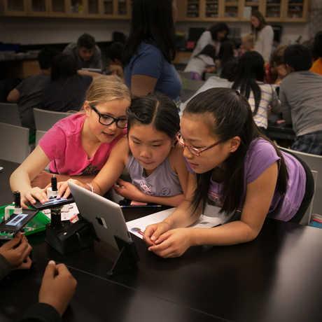 Kids in Academy classroom