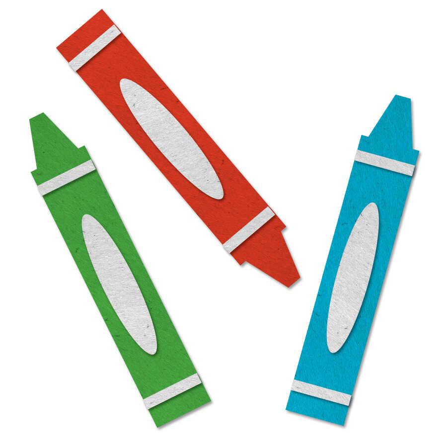 Coloring crayons felt icon