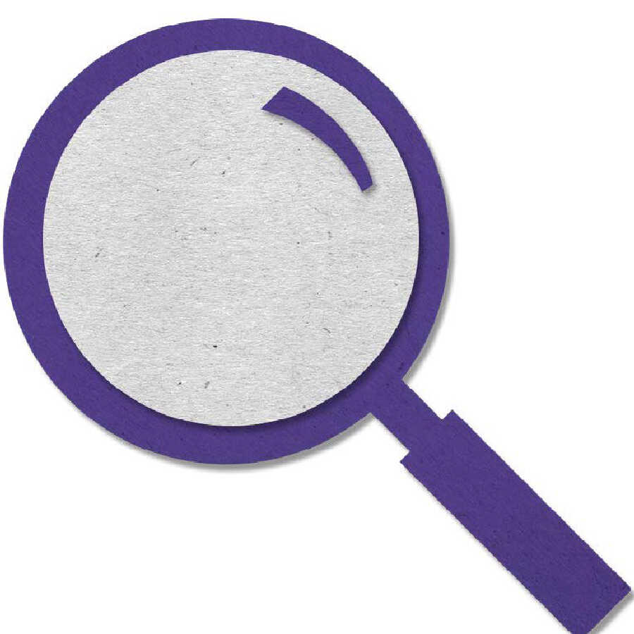 Felt magnifying glass icon