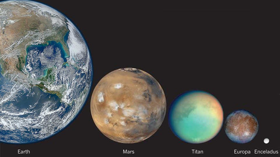 Earth and other ocean worlds of our solar system.