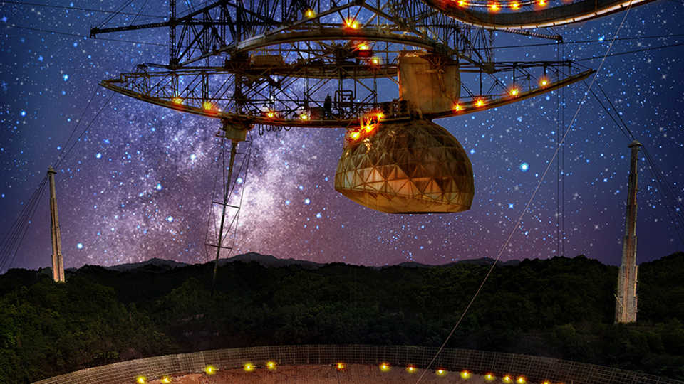 The Arecibo Radio Telescope in Puerto Rico—one of the largest of its kind—plays a vital role in gravitational wave astronomy