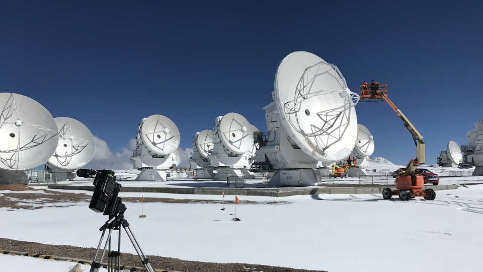 On-site filming at the ALMA facility