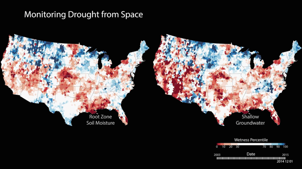 Drought from space