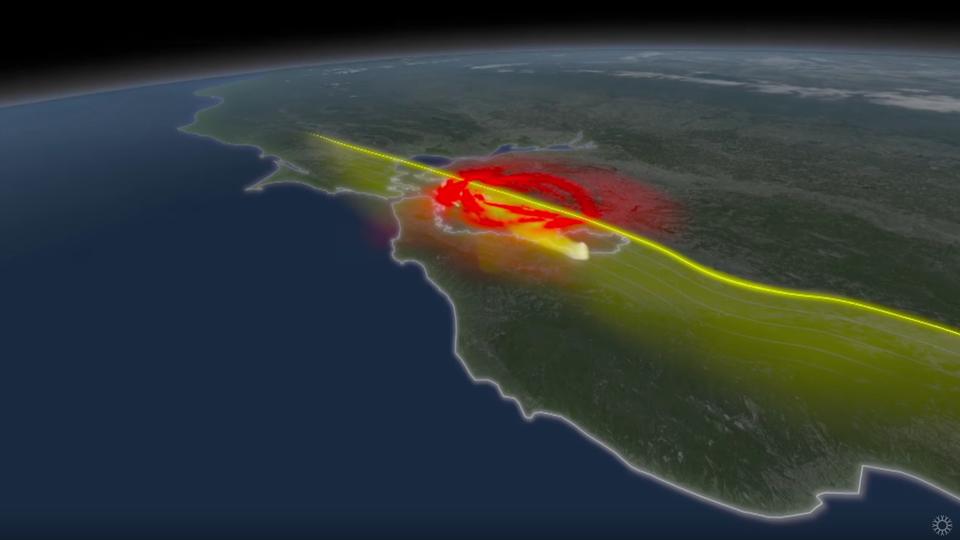 Computer simulation of an earthquake