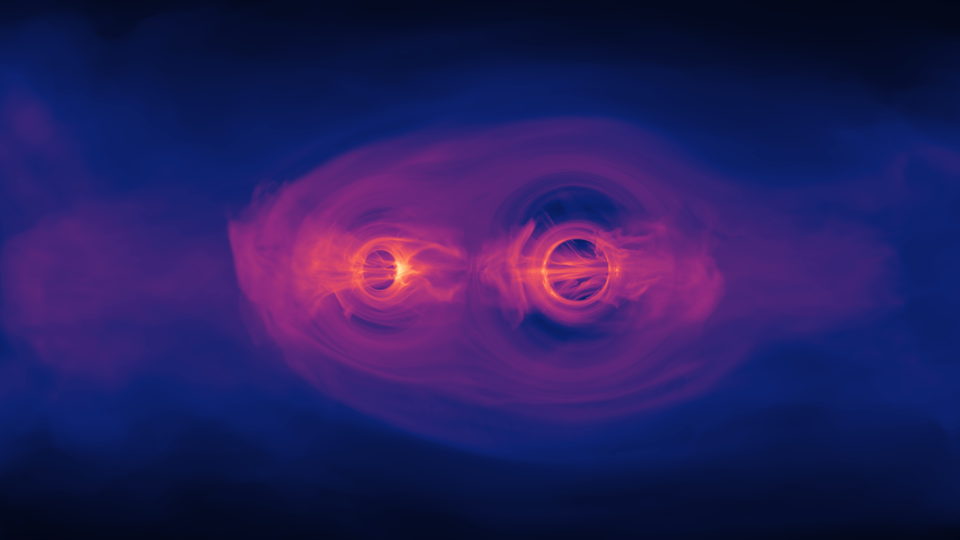 Two merging black holes