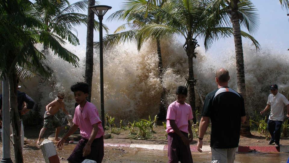 The 2004 tsunami in Thailand