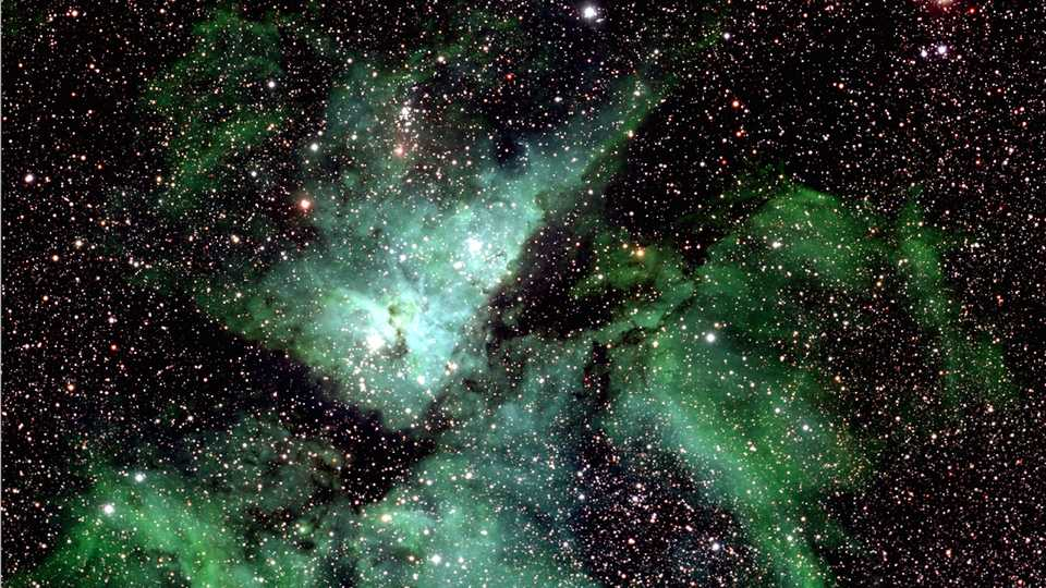 A small section of the Milky Way photo showing Eta Carinae