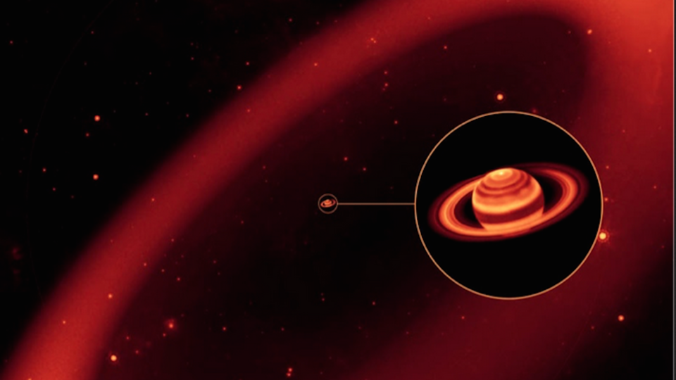 Saturn and its outer ring